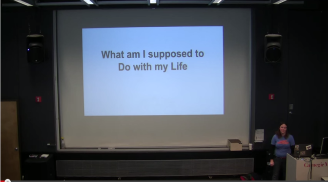 ETC Seminar Talk – What am I supposed to do with my life?